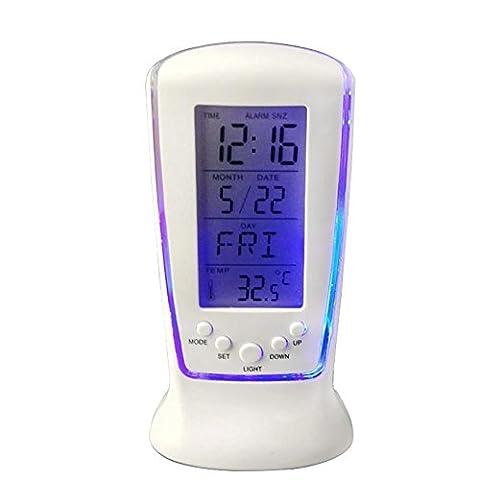 Digital Wecker Zähler LED Elektronische Uhren Leuchtend Silent Wecker Kalender Thermometer Wecker Lazy , (Zeit Spider Man Wecker)
