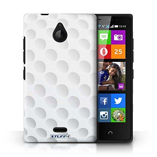 Kobalt® Imprimé Etui / Coque pour Nokia X2 Dual Sim / Rugby conception / Série Balle Sportif Golf