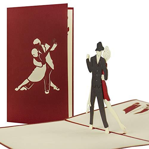 Gutschein zum Tanzkurs oder Tanzen, Gutscheinkarte, Glückwunschkarte, Geschenkkarte für Tänzer, Gutschein, hochwertige Pop Up-Karte, Geschenk, Einladung zum Tanzparty, H07