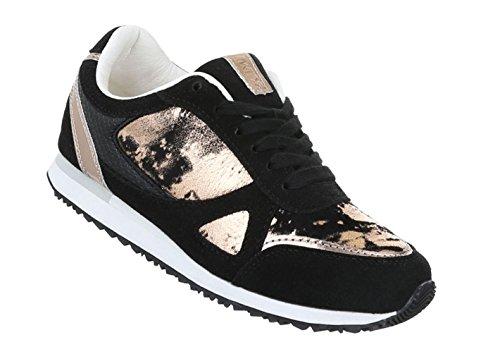 Damen Freizeitschuhe Schuhe Runner Sneakers Sportschuhe Schwarz Beige Weiß 36 37 38 39 40 41 Schwarz
