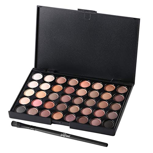 40 Colors Set Women Facial Cosmetic Makeup Eyeshadow Palette Personal Eye Shadow Cosmetic Tools With Brush(multicolor)
