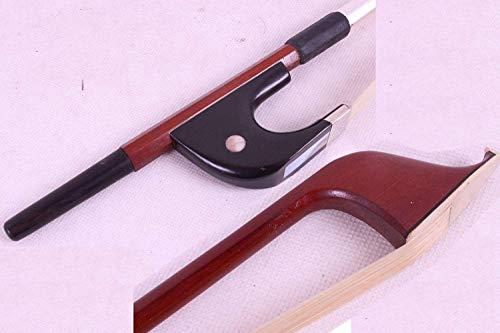 Yinfente 3/4 Senkrechte Kontrabass Bogen Brasilholz Deutsche Bogen Naturhaar Gut ausbalanciert