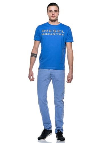 Diesel -  T-shirt - Uomo Blu