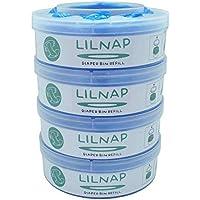 LILNAP - Recambios para el contenedor de pañales Sangenic Tommee Tippee & Sangenic Tec- recarga multicapa con tratamiento EVOH antibacteriano