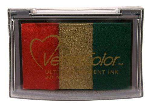 Tsukineko Versacolor Noel 3-Colour Ink Pad