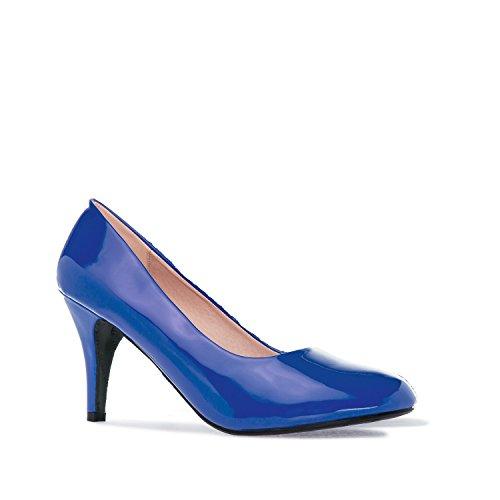 Andres Machado - AM422 - Klassischer Damenschuh aus verschiedenen Materialien und Farben Blau Lack