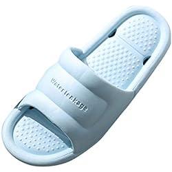 Sandales de Douche Pantoufles antidérapantes Chaussures familiales pour Femmes à la Maison Women's Solid Color Home Shoes Non-Slip Bathroom Slippers Sandals and Slippers