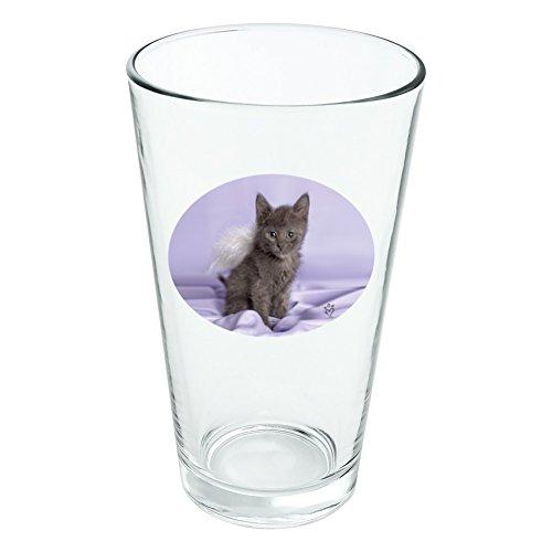 Domestic Shorthair Chaton Ailes d'ange Violet satiné fantaisie 453,6 gram Pinte à boire en verre trempé