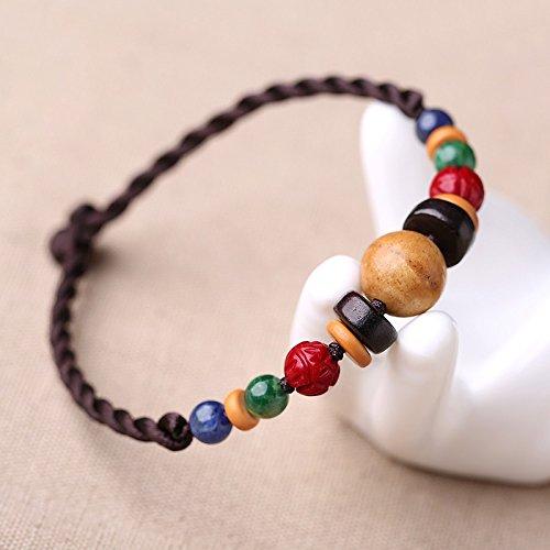 HRCxue Bracelet national wind retro jewelry original hand woven arts female Jewelry Ornaments hand string -