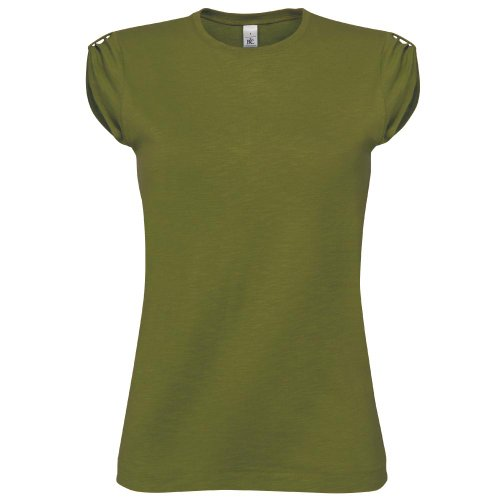 B&C CollectionDamen T-Shirt Grün - Chic Green