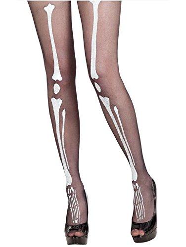 ett Knochen Strumpfhose schwarz-weiß M / L ()