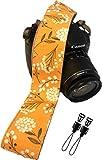 Correa de cámara con Flores de primavera para cámaras DSLR – Elegante correa universal de algodón para réflex – Correa de hombro y cuello para Canon, Nikon, Pentax, Sony, Fujifilm y cámara digital