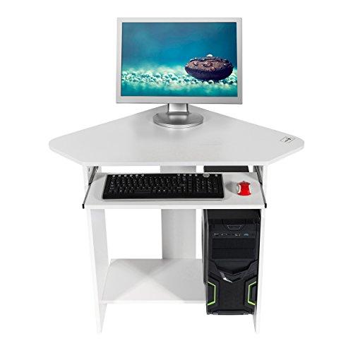 Mari Home - Clifton Weiß Computerschreibtisch Computertisch Schreibtisch Bürotisch Computertisch Arbeitstisch Freizeittisch PC Tisch
