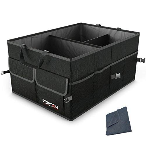 FORTEM THE EXTRA MILE Kofferraum Organizer Für Auto Und SUV - Faltbare Kofferraumbox, Kofferraumtasche Als Auto Zubehör - Anti-Rutsch Beschichteter Boden