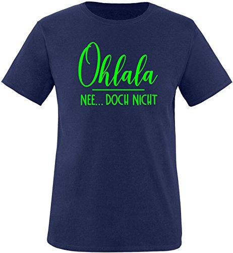 EZYshirt® Ohlala - Nee...doch nicht Herren Rundhals T-Shirt Navy/Neongrün