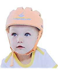 Hi8Store Casque de sécurité ajustable pour bébé Casque de protection pour marche Orange