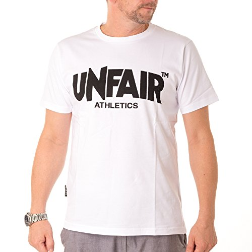 Athletic-logo T-shirt (Unfair Athletics T-Shirt Classic Label, Farbe:white;Größe:L)