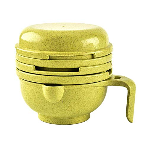 Coogel Baby Food Supplement Grinding Bowl Manual Grinder Vegetables Masher (Yellow) -
