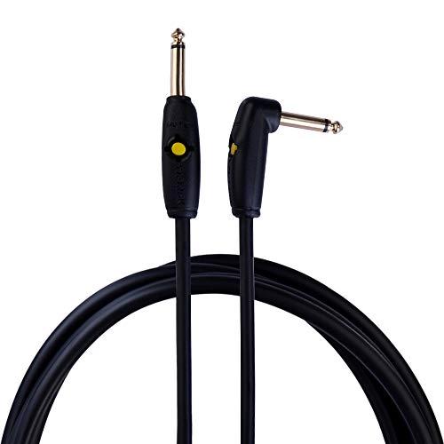 Rayzm Cable de Guitarra Circuit Breaker - 5m SIN RUIDOS, para Guitarra/Bajo, conectores dorados 6.5mm Macho TS Mono recto y en ángulo.