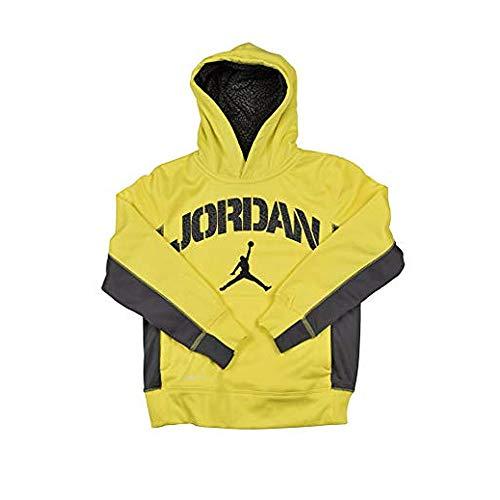 Nike Air Jordan Boys Therma Fit Hoodie Sweater Dark Grey Orange - Kinder Kleidung Für Air Jordan