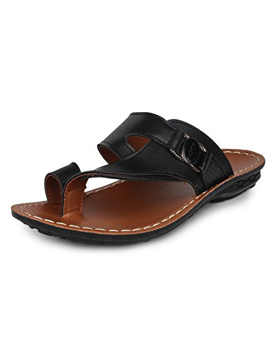 Columbus 2607 Lightweight Men's Sandals (10 UK, BlackTan)  available at amazon for Rs.449