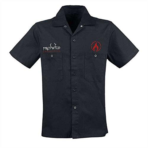 05a770836a9a Frei.Wild - Opposition Workerhemd bestickt, schwarz, Grösse S