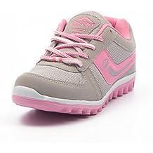 Asian Women's Mesh Cute Light Grey and Pink Range Running Shoes