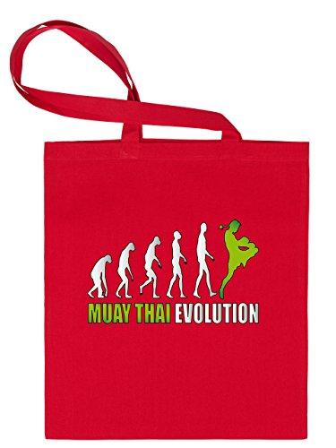 MUAY THAI EVOLUTION 2052 Stoffbeutel (Rot-Blau)