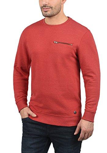 BLEND Jesper O-Neck Herren Sweatshirt Pullover Sweater mit Rundhals-Ausschnitt aus hochwertiger Baumwollmischung Pomp Red (73832)