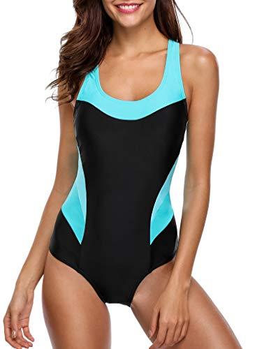 BeautyIn Damen Wettkampf Schwimmanzug Frauen Racerback Slim Sportanzug Elastisch XL