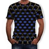 serliyKurzarm T Shirt Herren 3D Kreativ Muster Kurzen Ärmels Mit Rundhalsausschnitt Lässig Graphic Top Tees Jungen Sommer Mode Gedruckt Shirts Casual Slim Fit Oberteile