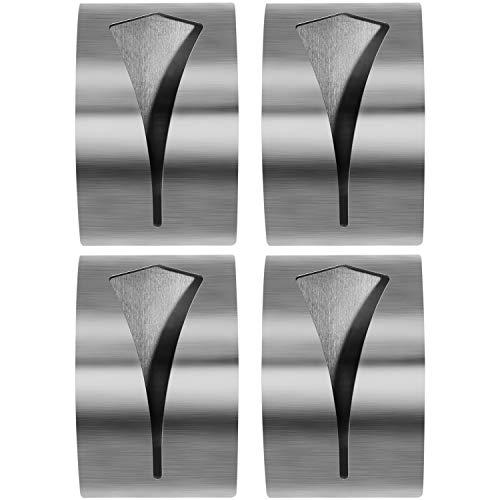 com-four® 4X Handtuchhalter aus Edelstahl, selbstklebend