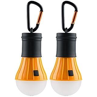 AceCamp 2 x Camping Accessories I Zubehör I Hochwertige LED Campinglampe I Lantern Light I Wasserdicht ohne Strom, Doppelpack, Orange Schwarz, 10289-ace