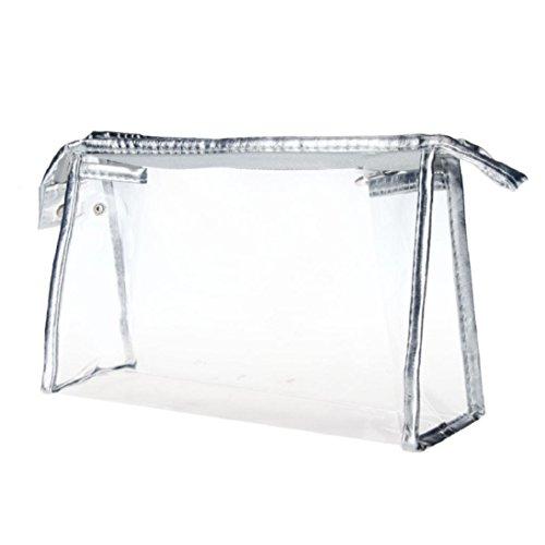 Kosmetiktasche Kolylong® Transparent Wasserdichte Makeup Bag Silber (Womens Großhandel Fashion Tops)