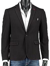 Crom Sakko Herren Blazer Modern Sportliche Slim-Fit Anzugjacke Freizeit Business Jacket Elegant