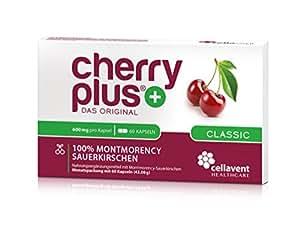 Cellavent Healthcare Cherry PLUS - Das Original: 100% naturreiner und hochkonzentrierter Montmorency-Sauerkirschen Extrakt / 60 Kapseln