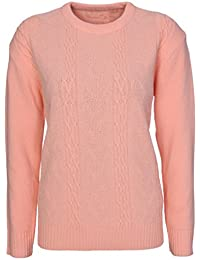 e16653af71088c Lets Shop Shop New Womens Chunky Cable Knit Long Sleeve Jumper Ladies  Classic Knitwear Sweater Pullover Plus Size…