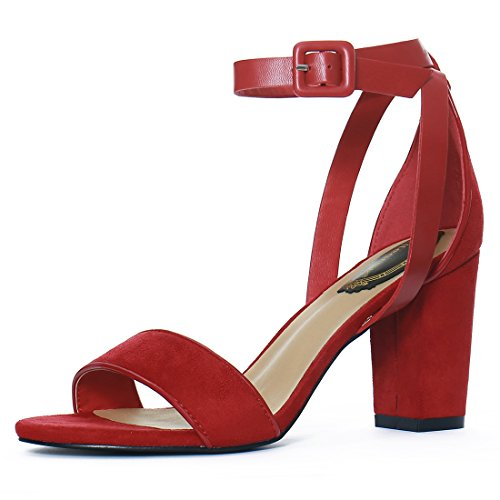allegra-k-women-pu-panel-chunky-heel-ankle-strap-sandals-size-us-7-deep-red