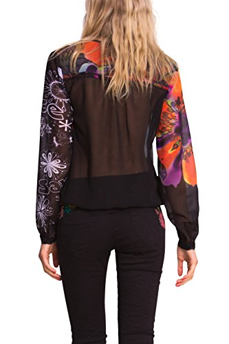 Desigual Leandra - Blouse - Taille normale - Manches longues - Femme Multicolore (Rio Red)
