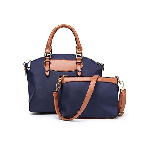 SXELODIE Damen Handtaschen Frauen Schulter Crossbody Messenger Tote Bags 2 Stück, Nylon Tuch Wasserdicht