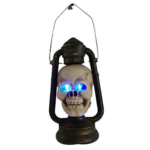 Neubula Halloween Requisiten,LED Schädel Laterne leuchtende Augen gruselig hängende Lichter,Halloween Dekoration Party Horror Ghosts Haunted Laternenlichter