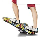 WSBBQ Una Ruota elettrica Portatile Auto bilanciamento Scooter Elettrico Monopattino Ricaricabile Longboard per Bambini e Adulti | Viaggi Indoor ed Outdoor | Borsa da Trasporto,Natural