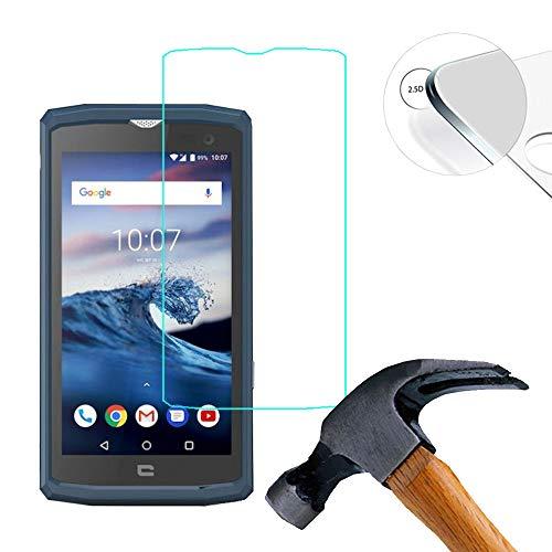 Lusee 2 X Pack Panzerglasfolie für Crosscall Core X3 5.0 Zoll Tempered Glass Hartglas Schutzfolie Folie Bildschirmschutz 9H (Nur den flachen Teil abdecken)