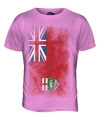 CandyMix Manitoba Verblichen Flagge Herren T Shirt Rosa