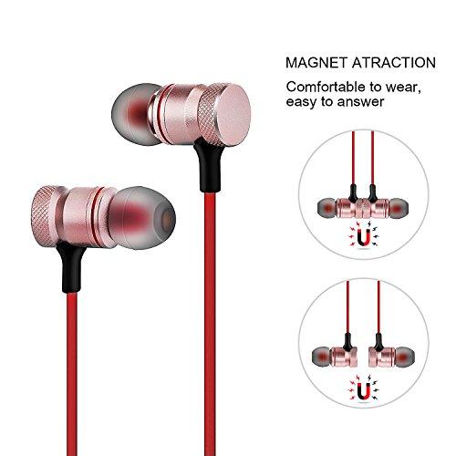 Cuffie Bluetooth senza fill auricolari stereo magnetici con ... 5fd537aff6ab