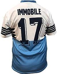 Camiseta Jersey Futbol S.S. Lazio Ciro Immobile Replica Oficial Autorizado  2018-2019 Niños (2 e40190815a34b