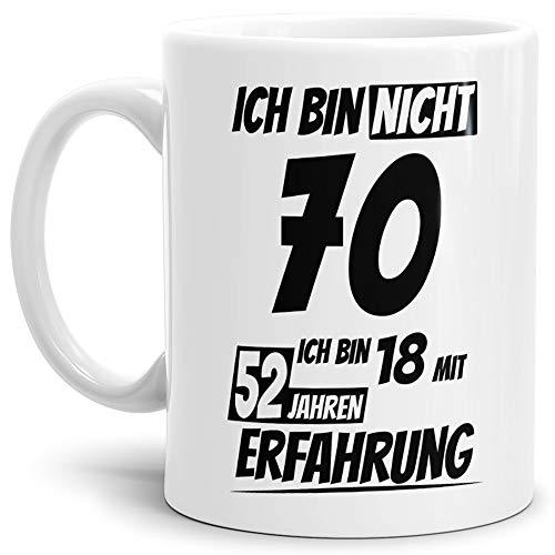 Geburtstags-TasseIch Bin 70 mit 52 Jahren Erfahrung...