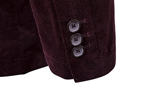Giacca Uomo Cavo Giacca Slim Fit Glestore Beige Nero Grigio Blu XS-XL Borgogna