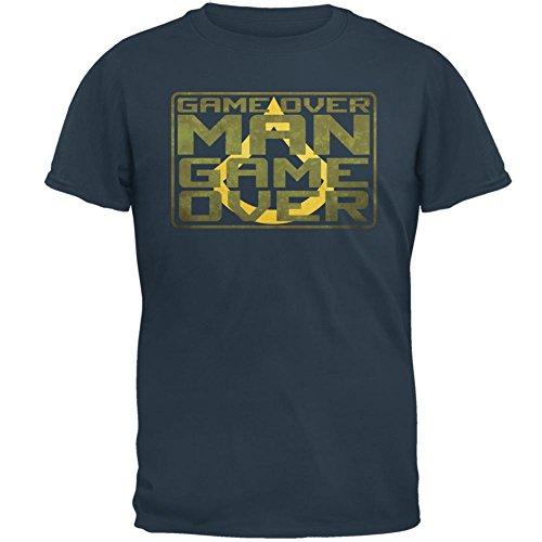 Game Over Man Game Over Herren-T-Shirt Blue