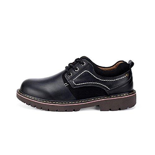 Antiscivolo pelle Scarpe da Martin lavoro le stivali di Uomo Scarpe nuovo 45 scarpe black Scarpe Aumenta Allaperto euro Il 38 Inverno Autunno DIMENSIONE casual czp4qy4OvZ